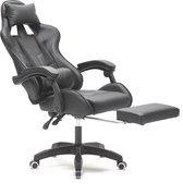 Gamestoel met voetsteun Cyclone tieners - bureaustoel - racing gaming stoel - zwart
