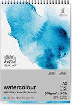 Winsor & Newton Classic Aquarelpapier Grain fin Spiraalblok 300gr 12 vel A3