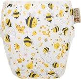 HappyBear - Zwemluier Bijen | 0-3 jaar - Wasbaar - Onesize