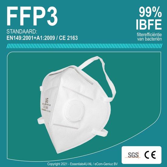 Afbeelding van FFP3 Filter Mondkapje -Mondmaskers -Stofmasker + SponDuct®