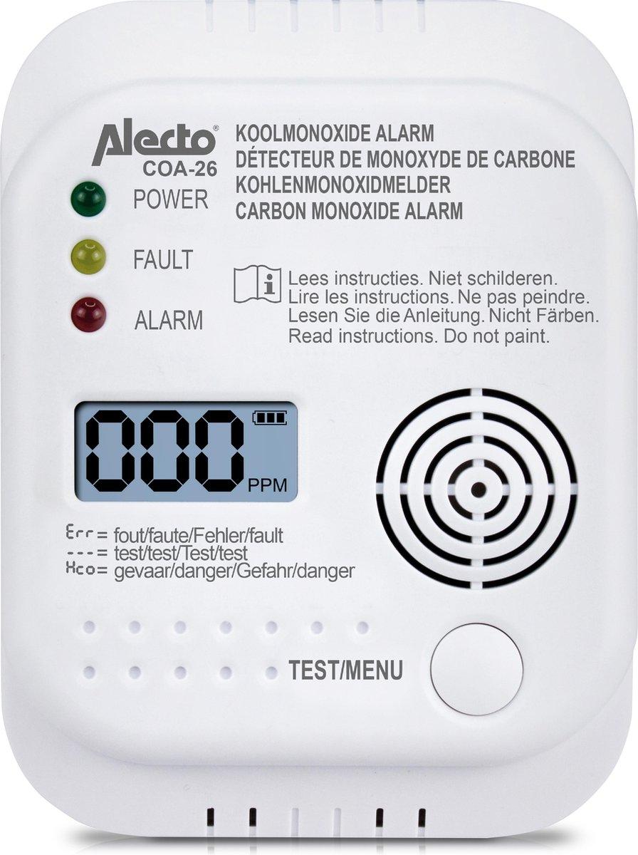 Alecto COA-26 Koolmonoxide melder - long life sensor 7 jaar op De Prijzenvolger
