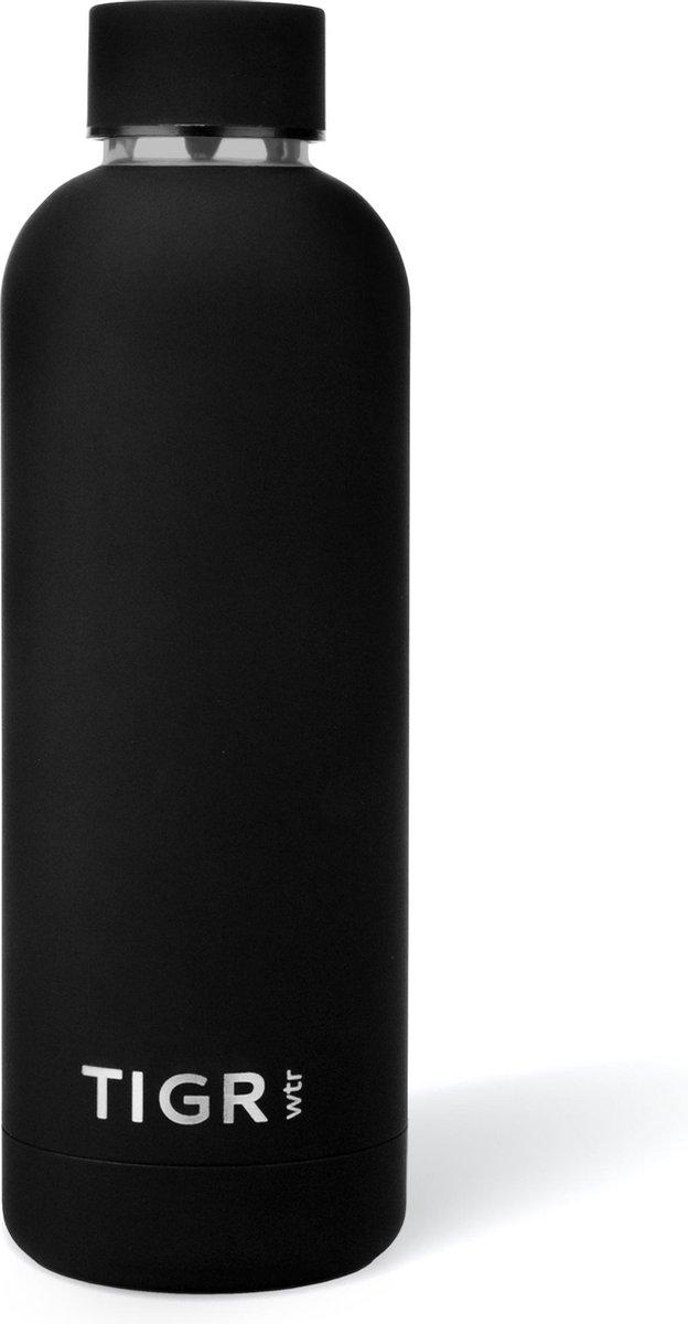 TIGR The Minimalist - Thermosfles in Roestvrij Staal RVS - Drinkfles - 500ML -  Zwart