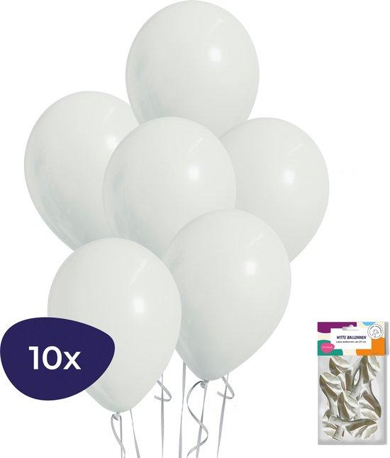 Witte Ballonnen - Helium Ballonnen - Verjaardag Versiering - Bruiloft Decoratie - 10 stuks