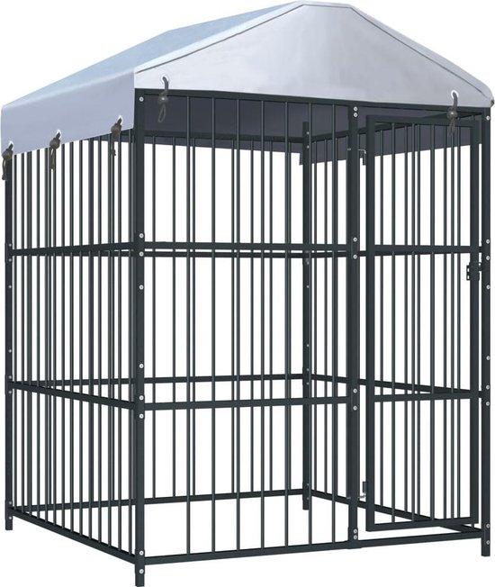vidaXL Hondenkennel voor buiten met dak 150x150x200 cm