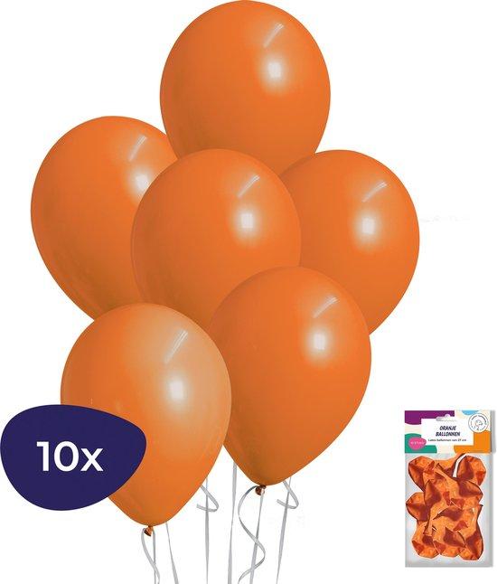 Oranje Ballonnen - 10 stuks - Helium Ballonnen - Voetbal Versiering - Koningsdag
