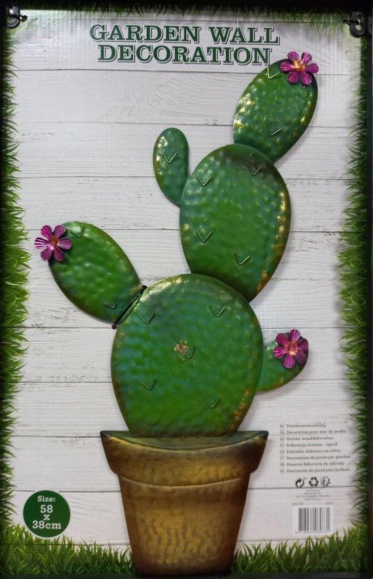 Bol Com Tuinmuur Versiering Tuinmuur Decoratie Cactus 58 X 38 Centimeter