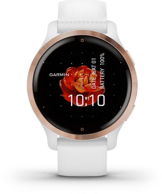 Garmin Venu 2S - Smartwatch - Wit/Rose goud