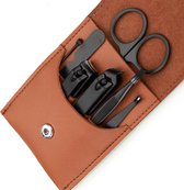 Fritzline© Manicureset 7 Delig - Nagelset incl. Nagelvijl & Nagelknipper - Nagel Verzorging - zwart