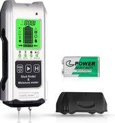 Luxiqo 7 in 1 Digitale Leidingzoeker en Vochtmeter - Detector voor Muren - Hout, Metaal, Leidingen, Bedrading - Vochtmeter voor Hout, Muren en Stucwerken - Temperatuurmeter in °C