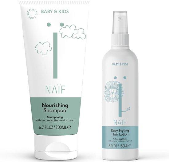 Naïf Haar combinatie shampoo & haarlotion - baby & kids - voordeelverpakking - 2 stuks
