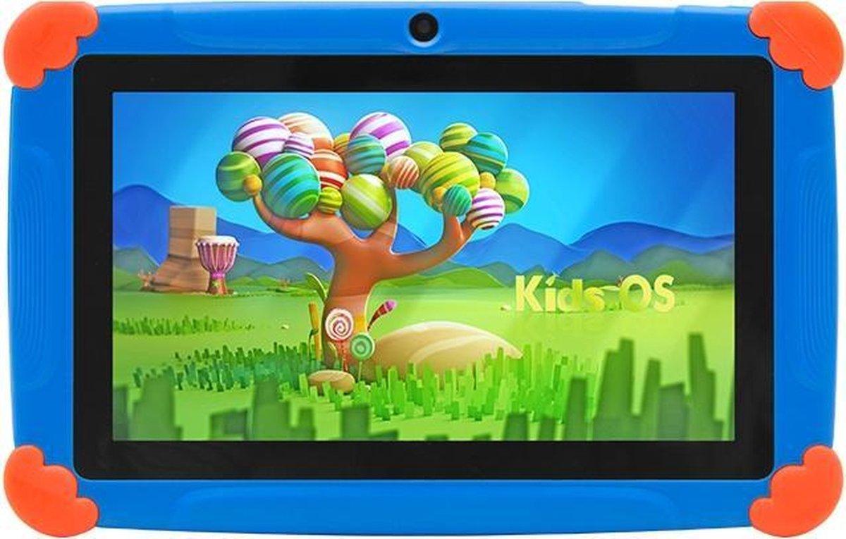 Kindertablet Pro Blauw - Tablet 7 inch - 32 GB opslag - Kinder tablet - kindertablet vanaf 3 jaar - tablets kinderen - kids tablet - Scherp HD beeld - leerzame voor kinderen - Wifi Bluetooth - voor-achter camera - Play store - uitstekende batterij