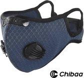 Chibaa NAVY Sportmasker |Mondmasker voor sport | Wasbaar | Mondkapje | Herbruikbaar |Duurzaam| Milieuvriendelijk |Met filter | Gezichtsmasker |Ventiel |Wasbaar |Klittenband |3 extra filters |1 set extra ventiel