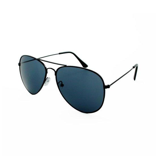 Piloten Zonnebril Heren Dames Zwart - Aviator Zonnebril - Pilotenbril - Donkere Zwarte Glazen