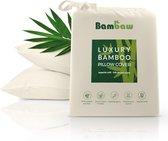 Bamboe Kussensloop | Eco Kussensloop 50 bij 75cm| Ivoor | Luxe Bamboe Beddengoed | Hypoallergeen Kussensloop | Puur Bamboe Lyocell Kussensloop | Ultra-ademende Stof | Bambaw