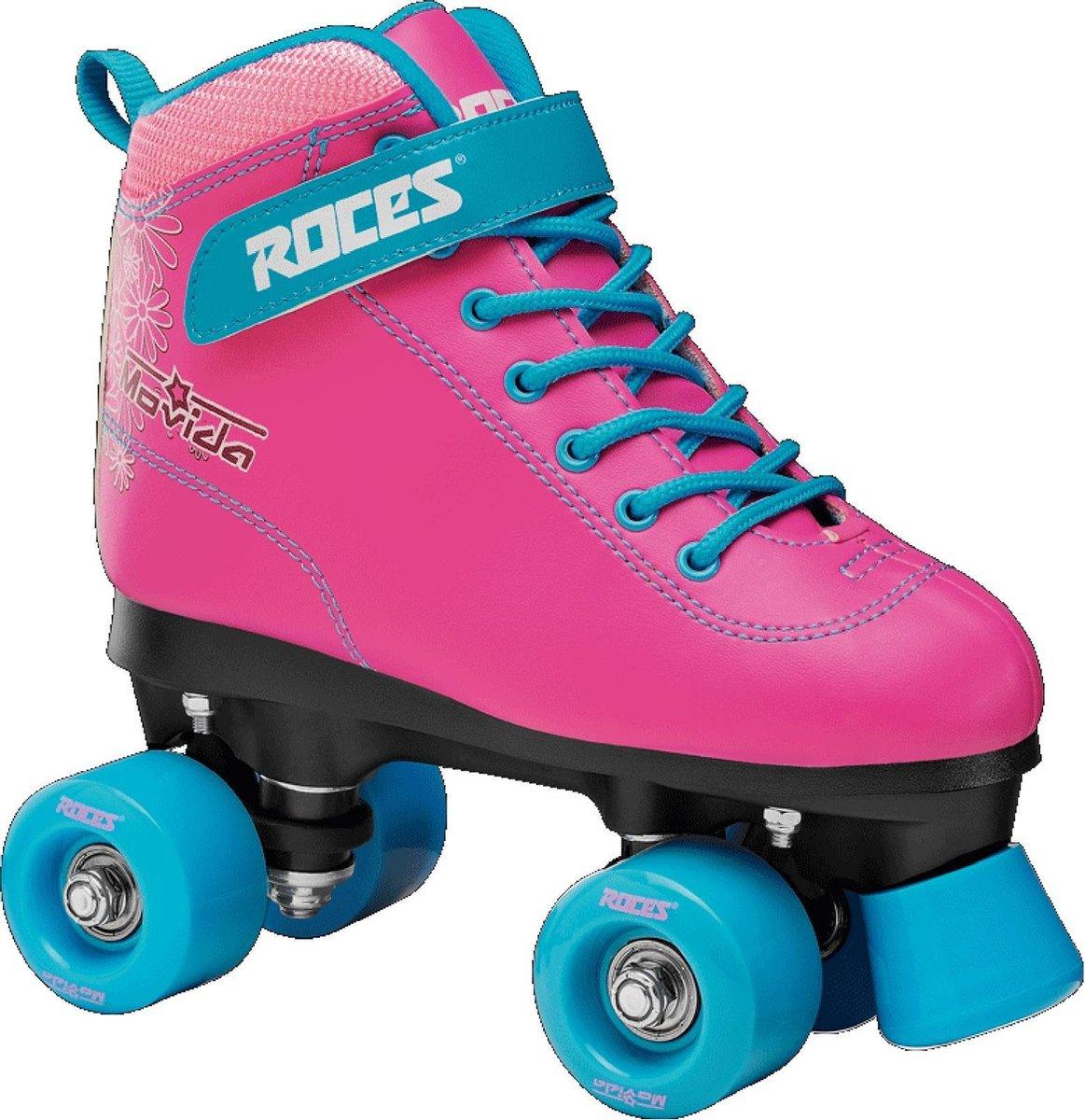 Roces Rolschaatsen - Maat 37Kinderen en volwassenen - roze - blauw - wit