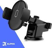 Alpha Telefoonhouder Auto Zuignap - Accessories Interieur - Zwart