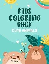 Kids Coloring Book Cute Animals