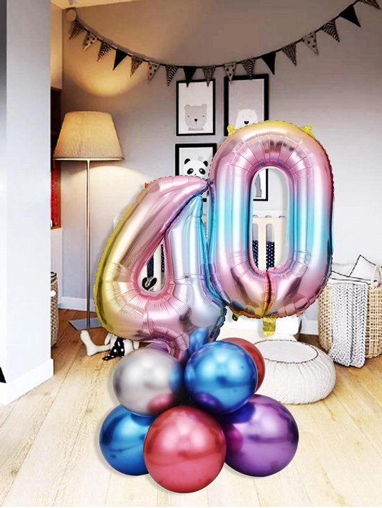 Ballonnen set - 40 jaar
