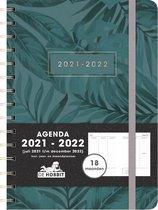 Hobbit schoolagenda 2021-2022 - 18 MAANDEN D4 - ringband - elastiek - 7 dagen over 2 pagina's - harde kaft met zacht gevoel - 224 pagina's - donker blauw - A5 formaat