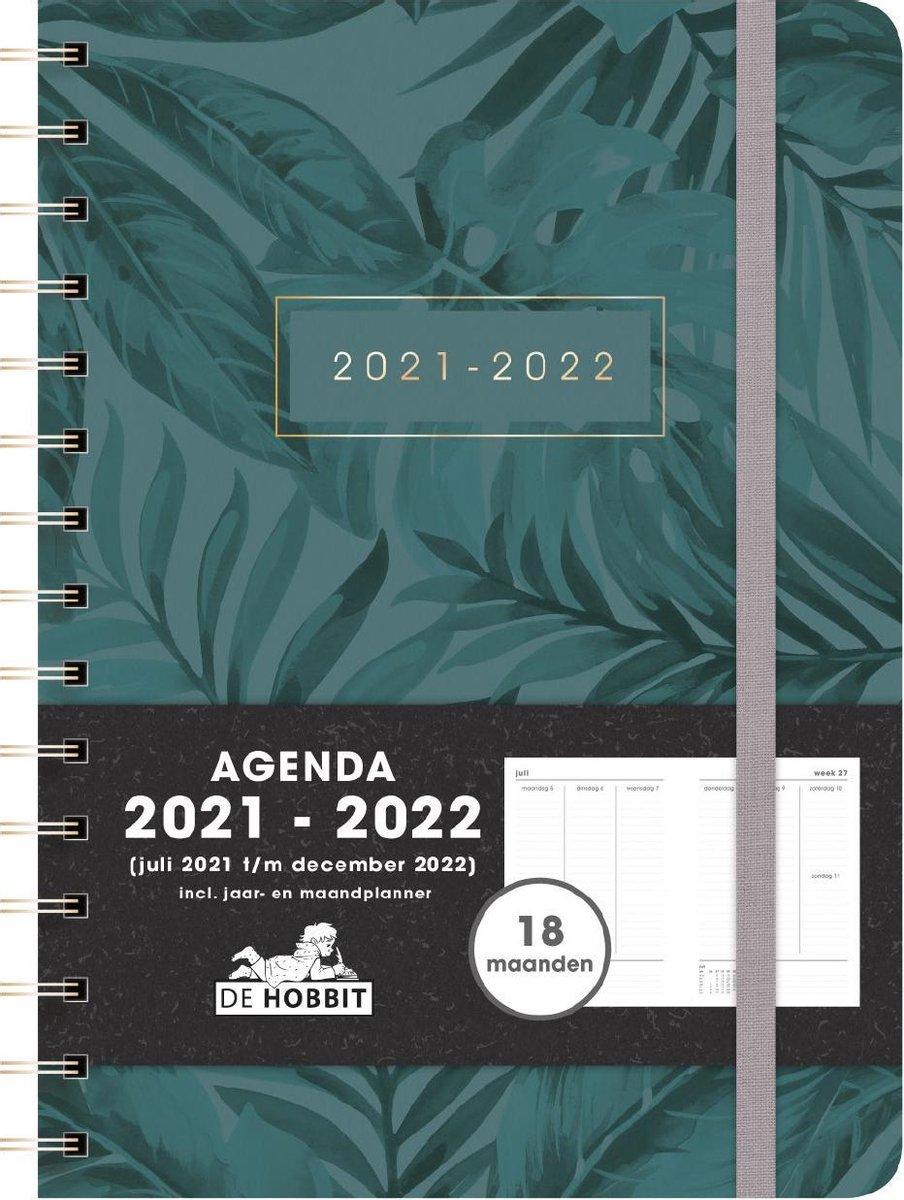 Hobbit schoolagenda 2021-2022 - 18 MAANDEN D4 - ringband - elastiek - 7 dagen over 2 pagina's - hard