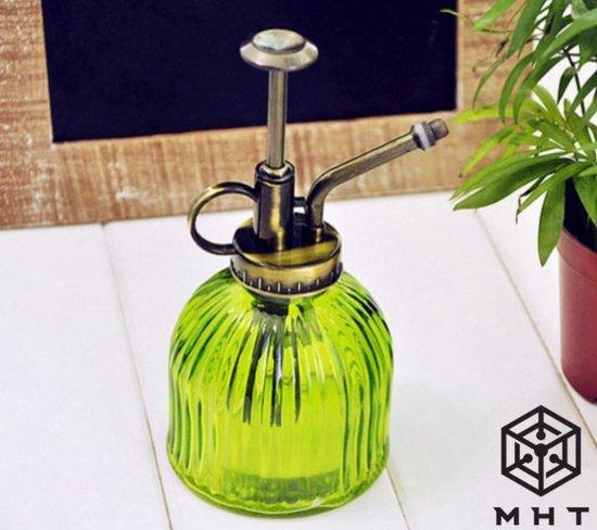 Plantenspuit - Groen - Glas - Vintage - Spray - MHT - 6 Kleuren - Water Verstuiver