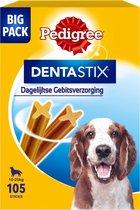 Pedigree Dentastix Medium Kauwstaaf - Gebitsverzorgende Hondensnack - 105 stuks