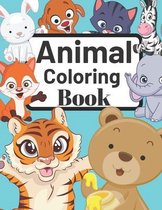 Animal Coloring Book: Kids Coloring Books - For Kids Ages 4-8