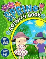 Spring Activity Book for Kids Ages 4-8