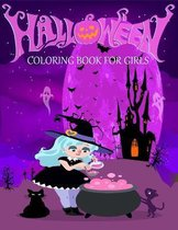 Halloween Coloring Book for Girls