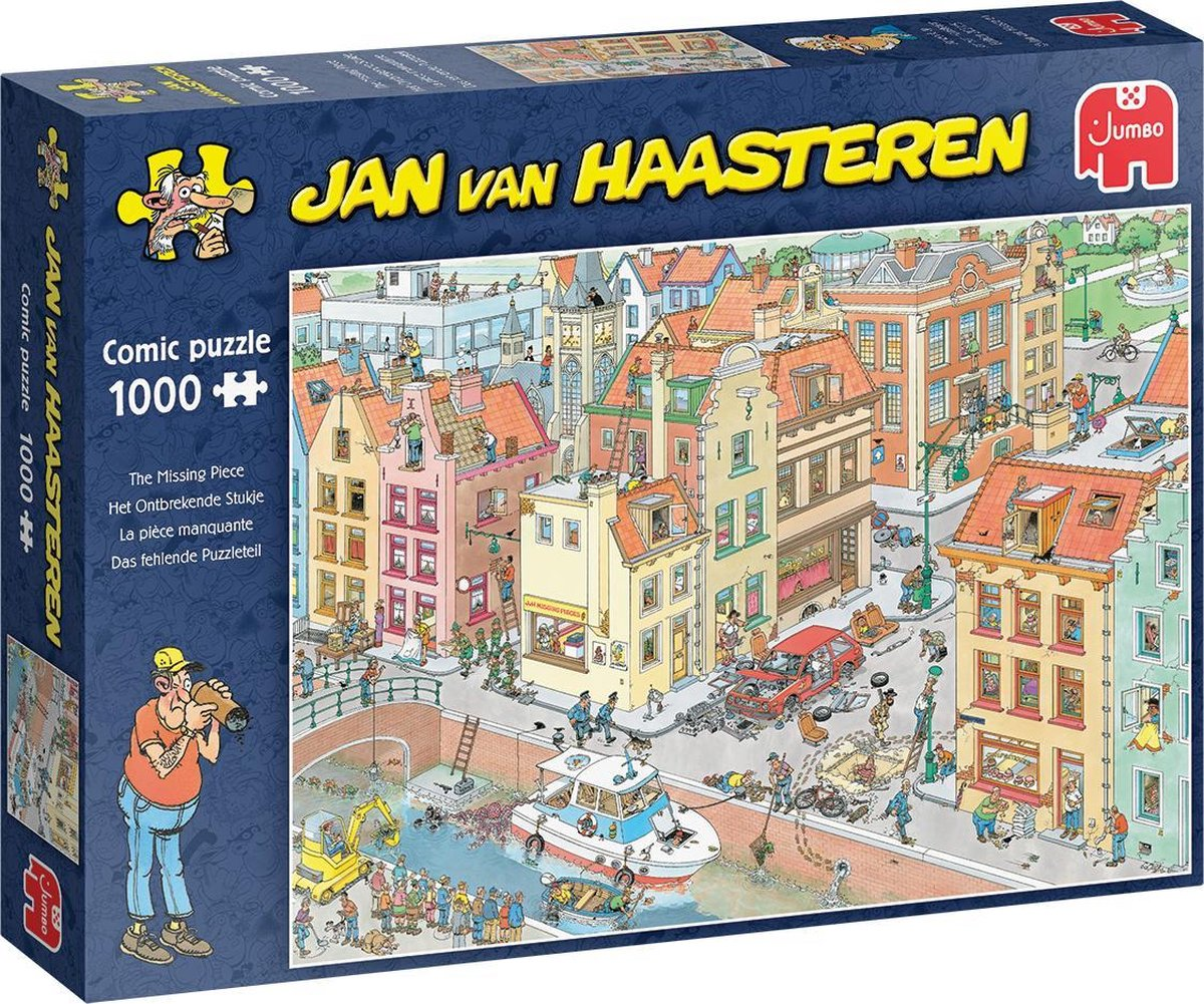 Jan van Haasteren Het Ontbrekende Stukje puzzel - 1000 stukjes