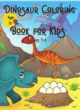 Dinosaur Coloring Book for Kids Ages 3-6
