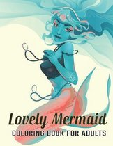Lovely Mermaid Coloring Book for Adults