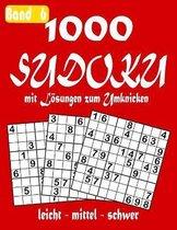 1000 Sudoku mit Loesungen zum Umknicken Band 6 leicht - mittel - schwer