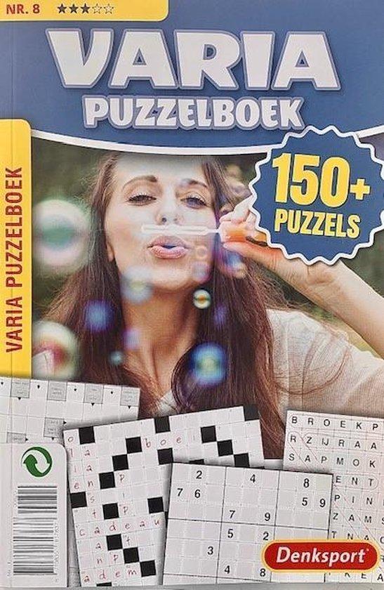 Afbeelding van Denksport Puzzelboek Varia 3* - vakantieboek 150 plus puzzels