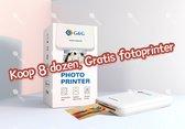 G&G ZINK fotopapier - 50 stuks (7.6 x 5cm) - Koop 8 dozen, GRATIS fotoprinter
