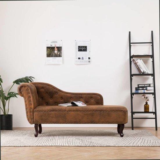 Hoekbank Leer Lounge.Bol Com Luxe Loungebank Kunst Suede Leer Lounge Sofa Lounge