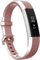 YONO Siliconen Bandje - Fitbit Alta (HR) – Rose Gold - Small