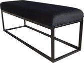Damiware Couchy bankje 121cm Velvet - Product Kleur: Velvet Zwart