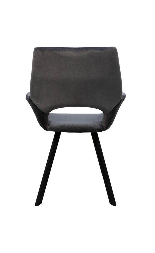 fluweel grijze eetkamerstoel kopen | meubel deals.nl