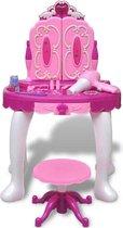 vidaXL Staande speelgoedkaptafel met 3 spiegels en licht/geluid voor kinderen kinderkamer