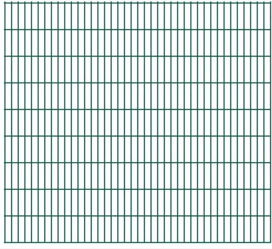 vidaXL Dubbelstaafmatten 2008 x 1830mm 22m Groen 11 stuks