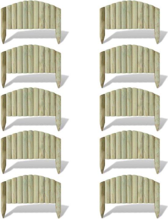 Rolborder voor om het gazon 10 stuks 55 cm met gebogen ontwerp