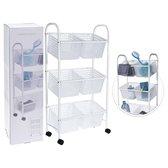 Bathroom Solutions Badkamertrolley - 78cm - Incl. 6 Manden - Wit