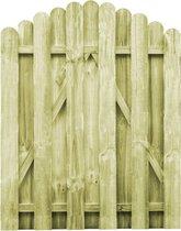 vidaXL Poort 100x125 cm FSC geïmpregneerd grenenhout