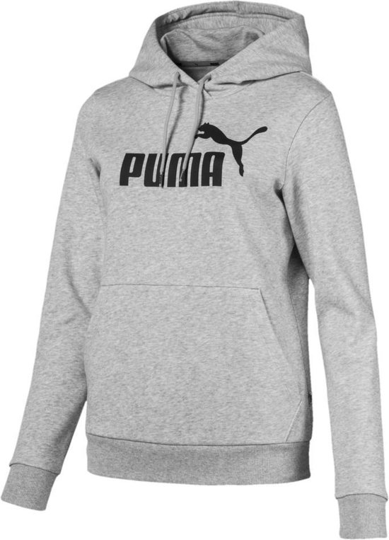 PUMA ESS Logo Hoody FL Dames - Light Gray Heather - Maat XL