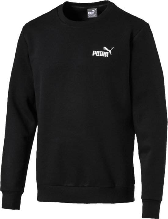 PUMA ESS Logo Crew Sweat FL Trui Heren - Puma Black