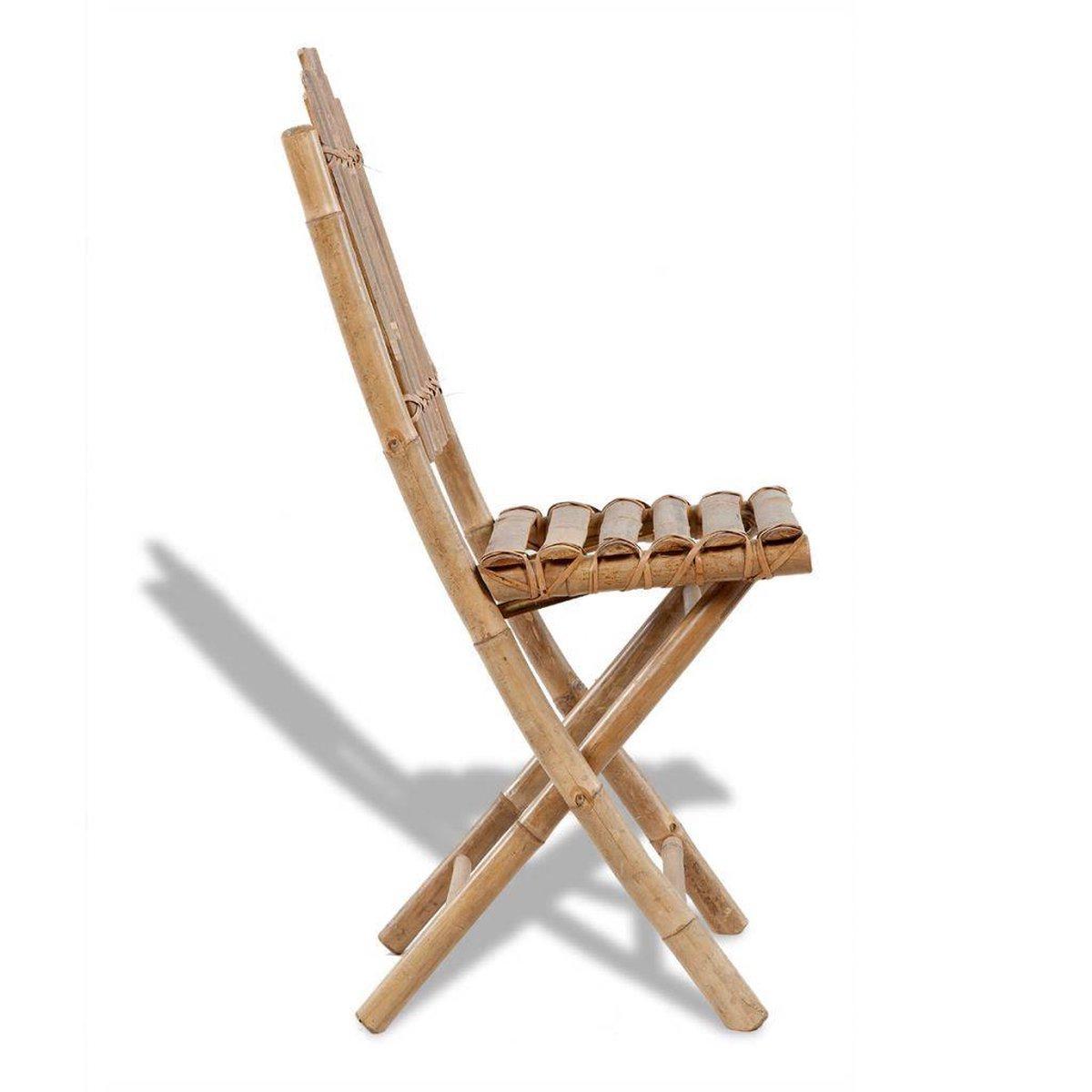 Stoel bamboe inklapbaar 2 stuks | vidaXL.nl