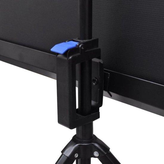 vidaXL Projectiescherm wit + in hoogte verstelbaar statief 200 x 200 cm (1:1) - vidaXL