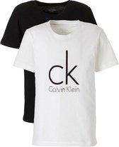 Calvin Klein - Jongens 2-Pack Ronde Hals Basis T-shirts Wit - 128/134