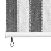 Rolgordijn voor buiten 240x230 cm antraciet en wit gestreept